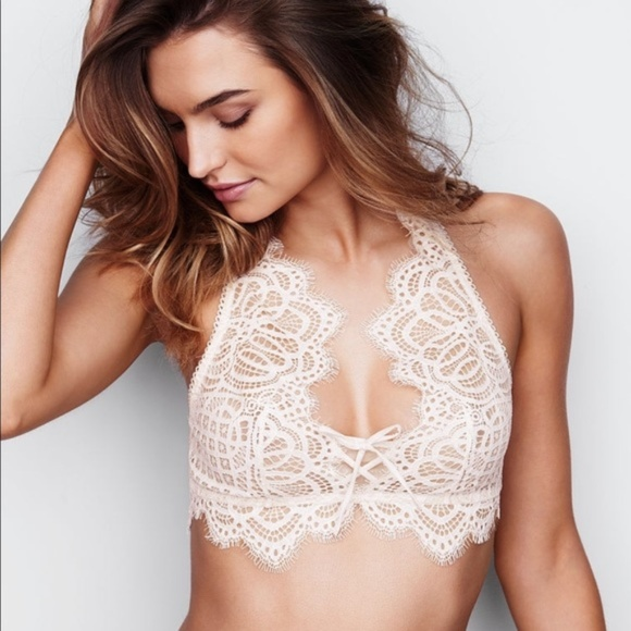 839f01b4377c7 VICTORIA S SECRET XS DREAM ANGELS IVORY LACE Bra